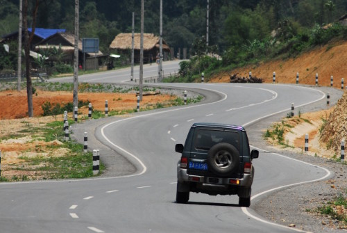 The new Route 3 in northern Lao