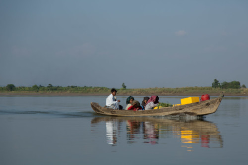 A boat on the Thanlwin (Salween) River