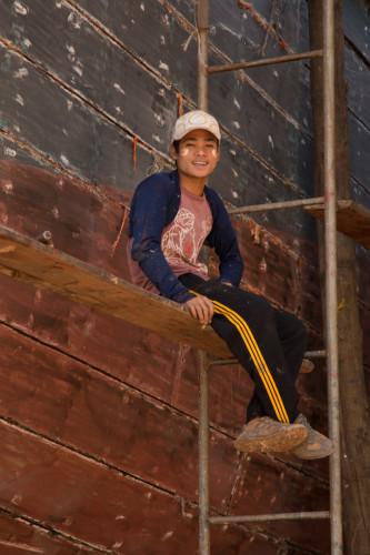 Boat builder, Lower Burma