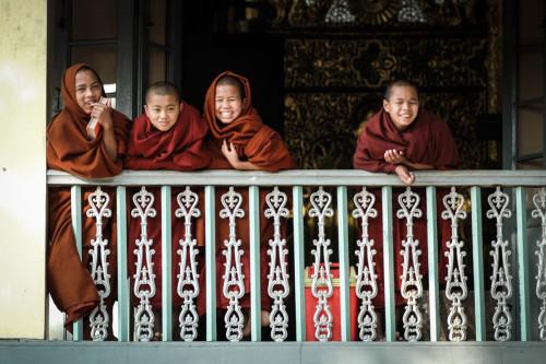 Young monks, Mandalay