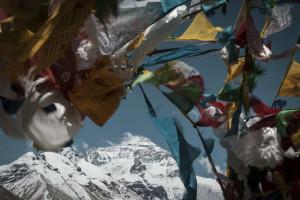 Everest & prayer flags